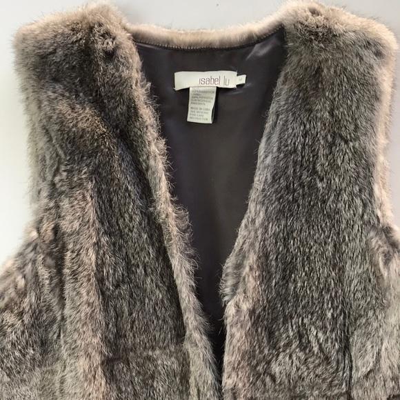 INTERMIX Jackets & Blazers - Gray rabbit fur vest